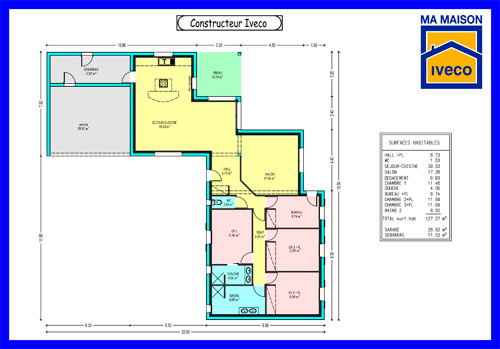 Plans de maisons for Plan maison simple 4 chambres