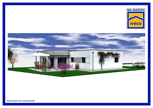 plan plain pied de maison contemporaine vendée
