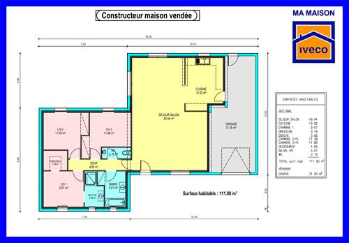 plan maison vendeenne etage