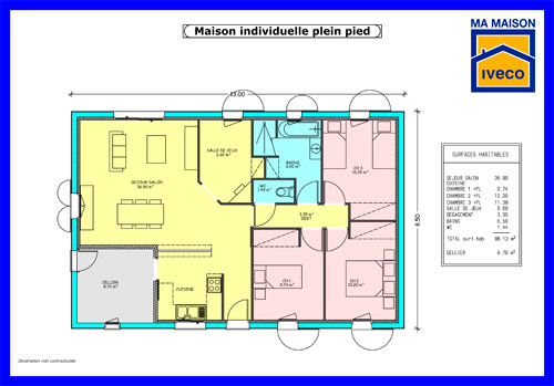 Plans de maisons for Plan de maison individuelle
