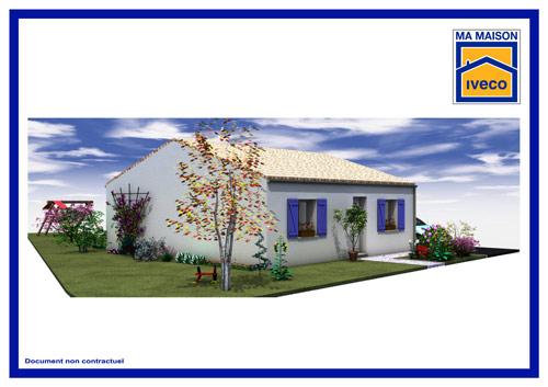 Plan IVECO maison traditionnelle plain pied 2 chambres