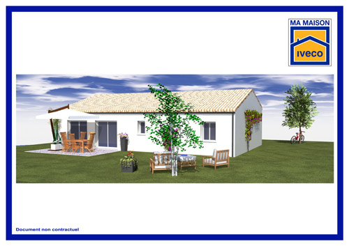 Plan maison traditionnelle T4 iveco